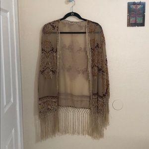 Other - Sheer velvet filigree kimono